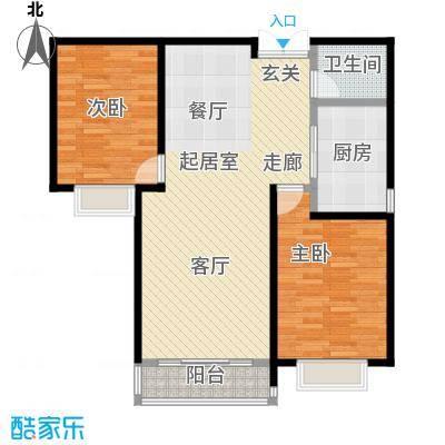 联邦・御景江山户型2室1卫1厨