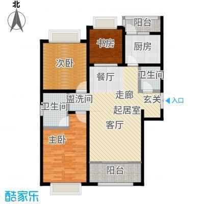 联邦・御景江山126.00㎡二期C5户型3室2厅2卫