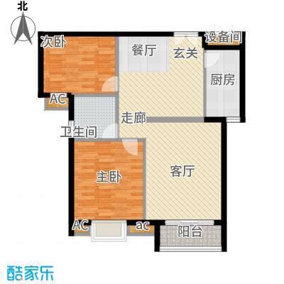 顺田君邑建筑面积:87-95㎡户型2室2厅1卫