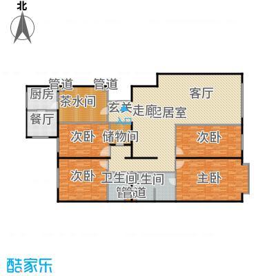 蓝筹名座247.42㎡4室2厅2卫1厨户型