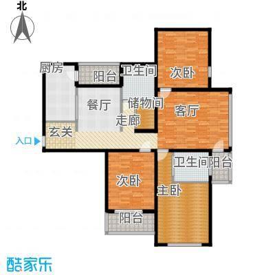 丛台花园三室两厅两卫 156.61平米户型
