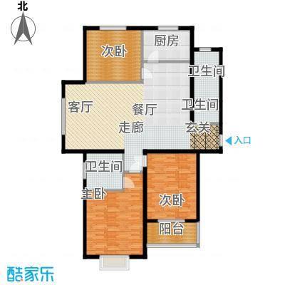 丛台花园三室两厅两卫 138.38平米户型