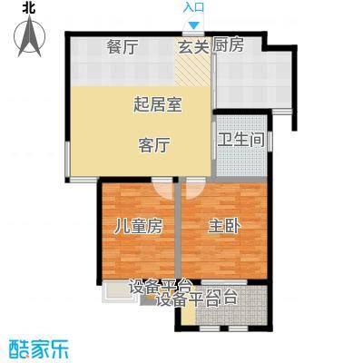 稽山御府天城二室一厅 85平米户型