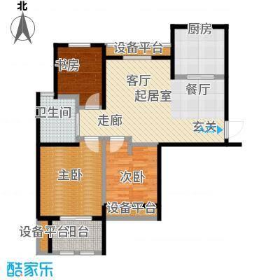 稽山御府天城三室一厅 88平户型