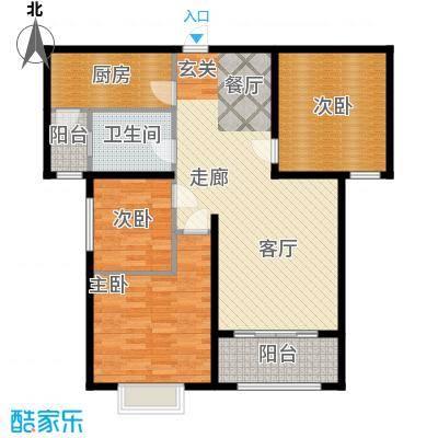 丛台花园三室两厅一卫 101.57平米户型