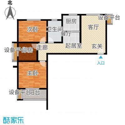 幸福馨苑户型3室1卫1厨
