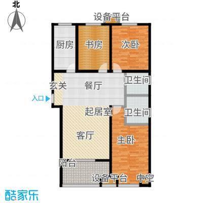 嘉华国际133.15㎡嘉华国际133.15㎡3室2厅2卫户型3室2厅2卫