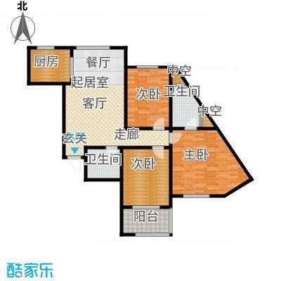 嘉华国际116.22㎡嘉华国际116.22㎡3室2厅2卫户型3室2厅2卫