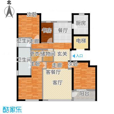 绿城北京诚园179.00㎡B3户型4室1厅2卫1厨