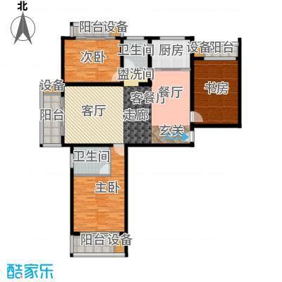 丽水苑145.77㎡2号楼端单元户型3室2厅2卫