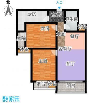 丽水苑105.07㎡2号楼户型2室2厅1卫