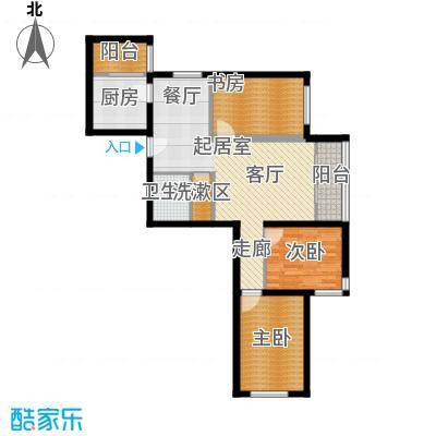首开知语城103.00㎡C-3户型三室二厅一卫户型