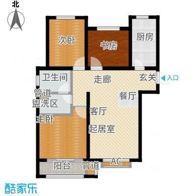 安联水晶坊3室2厅2卫 109.6平米户型