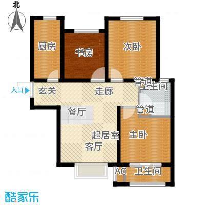 安联水晶坊3室2厅1卫 99.97平米户型