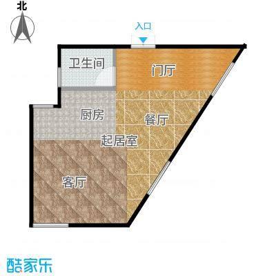 东阙都64.47㎡E户型复式首层户型