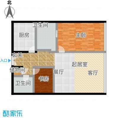 C-PARK西派国际公寓150.14㎡4号楼B户型二室二厅二卫户型