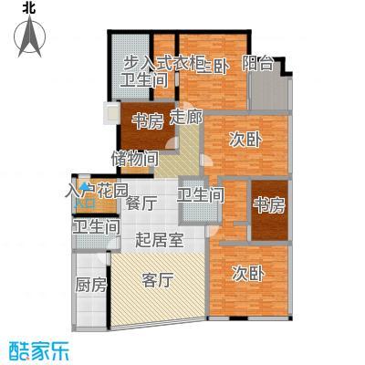 C-PARK西派国际公寓342.14㎡4号楼E户型四室二厅二卫户型