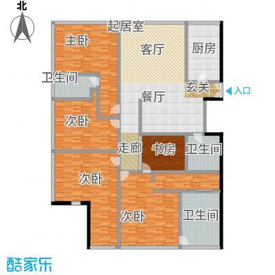 C-PARK西派国际公寓2号楼E1户型五室两厅四卫342.22户型