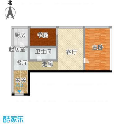 C-PARK西派国际公寓136.97㎡4号楼A户型二室一厅一卫户型