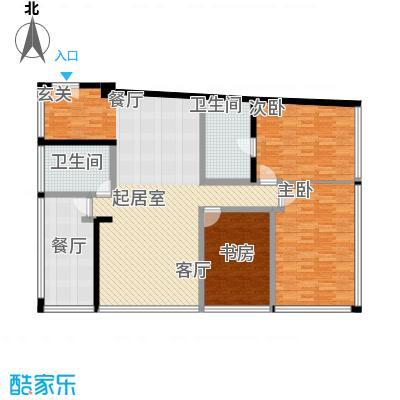 C-PARK西派国际公寓190.66㎡4号楼C户型三室二厅二卫户型