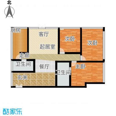 C-PARK西派国际公寓185.15㎡4号楼K1户型三室二厅二卫户型