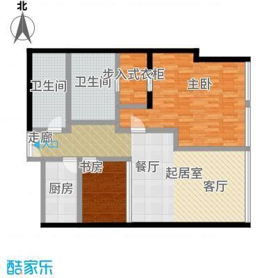 C-PARK西派国际公寓156.35㎡4号楼H户型二室二厅二卫户型