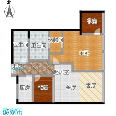 C-PARK西派国际公寓168.15㎡4号楼L户型二室二厅二卫户型