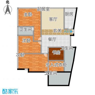 C-PARK西派国际公寓2号楼E户型四室两厅三卫304.51户型