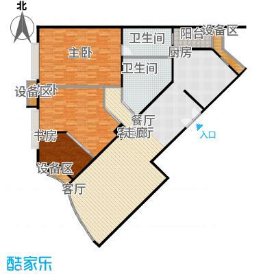 中海凯旋153.95㎡三室二厅二卫户型