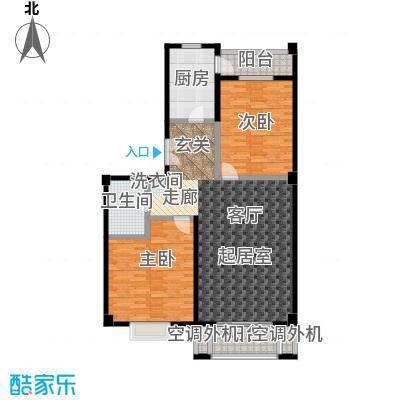 安德馨居111.56㎡两室一厅一卫户型
