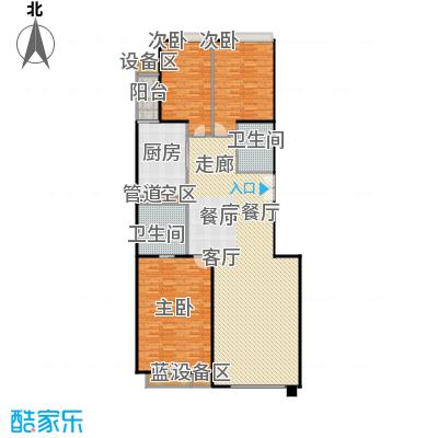 中海凯旋170.72㎡三室二厅二卫户型