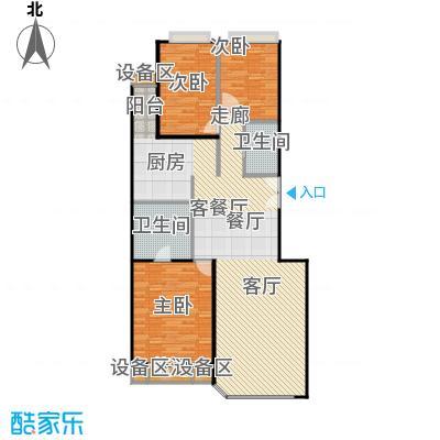 中海凯旋154.72㎡三室二厅二卫户型