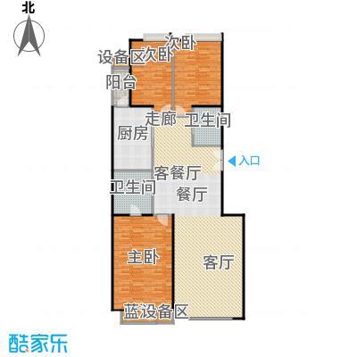 中海凯旋170.19㎡三室二厅二卫户型
