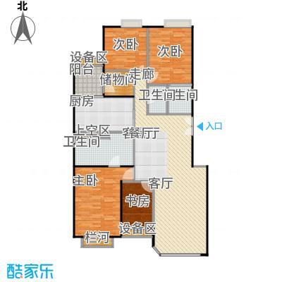 中海凯旋222.19㎡四室二厅三卫户型