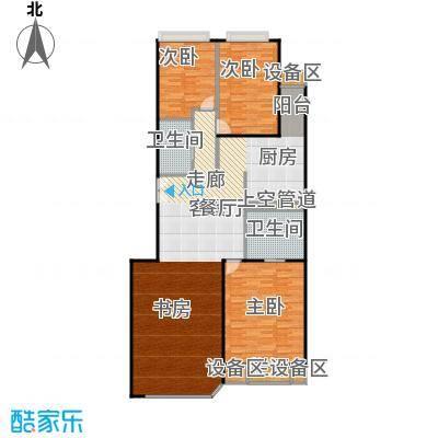 中海凯旋152.00㎡三室二厅二卫户型