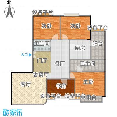 中海凯旋197.10㎡四室二厅二卫户型