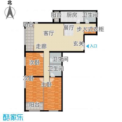 泰达时代中心公寓222.01㎡G户型3室2厅3卫户型