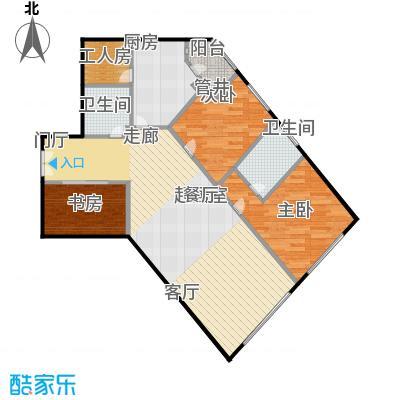 阳光100国际公寓85.96㎡D户型三室两厅户型