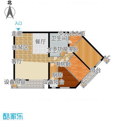 里外里公寓229.97㎡B-1-3户型二室二厅二卫户型
