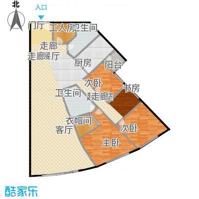 阳光100国际公寓115.68㎡E户型三室两厅户型