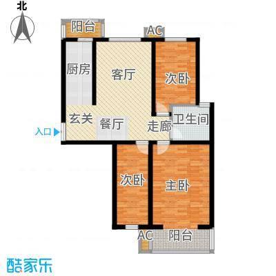 枫丹美庐三室两厅一厅 99.55㎡户型