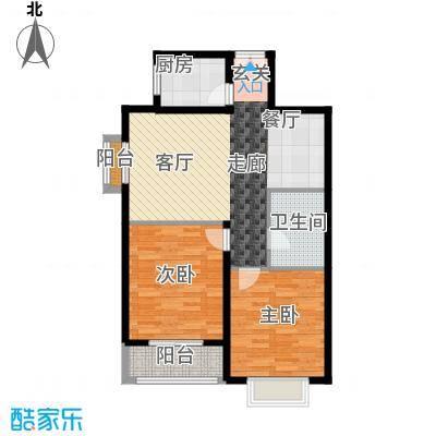 天润东方绿城三室一厅一卫户型