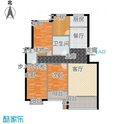 天润东方绿城三室两厅两卫户型