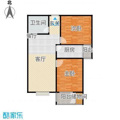 兴业苑B2户型 98.74平米 2居2厅1卫户型