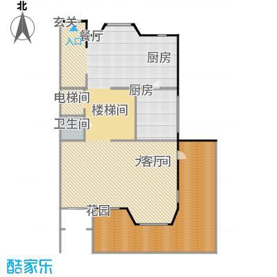 鸿坤・林语墅125.06㎡联排S-9F面图户型1卫1厨
