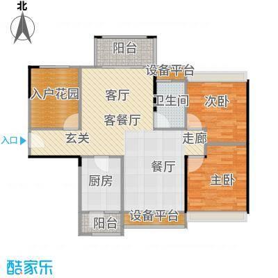 龙光海悦城邦3期89.27㎡1、2栋01、02户型3室2厅1卫