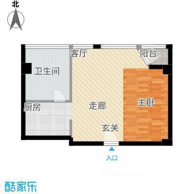 港湾国际55.00㎡1室1厅1卫1厨户型