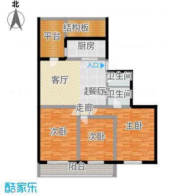 柳荫家园121.00㎡3室2厅户型