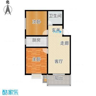 钢苑新区C户型两室两厅一卫一厨94.58平方米户型LL