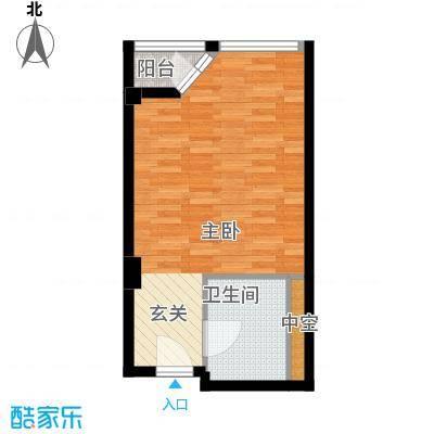 港湾国际40.00㎡一居室户型